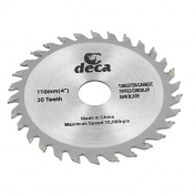 """110mm 4"""" 30T Teeth Slitting Circular Saw Cutter Rotary Tool Silver Grey"""
