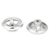 Unique Bargains 2pcs 70mm Dia Four Spoke Round Iron Hand Wheel for Milling Machine Lathe