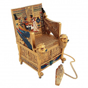 Design Toscano King Tut's Golden Throne Treasure Box