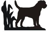 Border Terrier Dog Lovers Gift - LETTER RACK - A quality hand made Letter Rack - Ironwork Silhouette Dog Breed Letter Rack