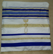 Zuluf Mens Messianic Shawl / Tallit - The Messiah Tallit Royal Blue / Gold … HLG023