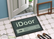 "The iDOOR | ""Slide to Unlock"" Door Mat for Indoor and Outdoor Use 