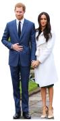 STAR CUTOUTS LTD Royal Couple Prince Harry and Meghan Markle (Star-Mini), cardboard, Multi Colour, 91 x 5 x 42 cm