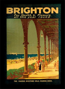 "National Railway Museum ""Brighton - Sheltered Walk"" Framed Print, Multi-Colour, 30 x 40 cm"