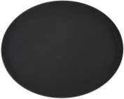 Winco Oval Fibreglass Tray with Non-Slip Surface, 70cm by 60cm , Black by Winco