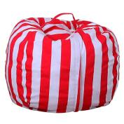 "Sisit Kids Stuffed Animal Plush Toy Storage Bean Bag Soft Pouch Stripe Fabric Chair Practical Convenient Universal bag Perimeter:1.4m/55.1"",Diameter:41cm/16''"