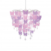 Easy Fit Universal Pink Butterflies Light Decoration Ceiling Lamp Chandelier Pendant