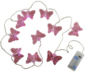 Christmas Concepts® 10 Warm White LED Metal Purple Butterfly Shaped Lights - Christmas Lights - Everyday Lights