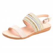 Dragon868 Women Summer Bohemia Sandals, Fashion Open Toe Beach Casual Gladiator Elastic Band Ankle Strap Shoes