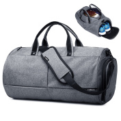 Sport Gym Duffel Bag, Polesun Waterproof Travel Bags Holdall Shoulder Handbag for Men and Women with Shoe Compartment 22L