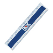 "Rok Hardware Measuring Plastic Flexi 6"" Easy Read English Metric 150 mm Ruler Converter"