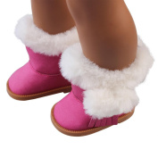 Mingfa 46cm Doll Booties Shoes Winter Plush Snow Boots Doll Accessories for Our Generation American Girl Doll