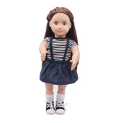 squarex Doll Clothes Dress Outfit Clothes Set For 46cm American Girl Our Generation Doll
