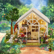 3D DIY LED Wooden Puzzle Miniature Doll House, Indexp Christmas Creative Furniture Handcraft Jigsaw Educational Toy Gift Set