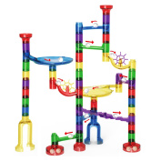 Marble Run Toy, LOYO Marbles STEM Educational Learning Toy, Marble Race Coaster Construction Railway Building Blocks Toy for Boys Girls 4 5 6 7 8 + Year Old