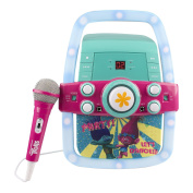 Trolls Karaoke with real working Flashing Lights, Microphone, CD Player & AUX - connect any MP3 device and have fun with Poppy