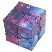 Galaxy Magic Infinity Cube Fidget Toy Adults & Kids Relieve Stress Anxiety