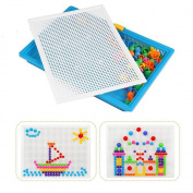 296Pcs Jspoir Melodiz DIY Mushrooms Nails Beads Building Jigsaw Puzzle Pegboard for Kids 7 Colour Toys for . Above people Perfect Gift