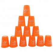 12PC/Set Cups Stacking Sport Speed Stacks Competitor Game Mat Pro Timer Play Toy By HUHU833