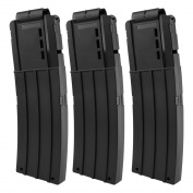 TXXCI Soft Bullet Clip Quick Reload Clip For Nerf Elite Series 15 Bullets Ammo Cartridge Dart Soft Bullet Clips - Matte Black 3 Pcs