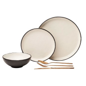 Living & Co Glazed Dinner Plate with Clay Bottom 26cm