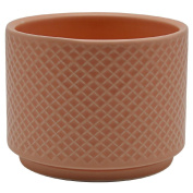 Living & Co Pot Embossed Pink 13cm