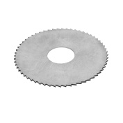75mm Outer Diameter 22mm Bore 1mm Thick HSS Slitting Saw Silver Tone