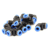 10Pcs 8mm to 8mm Pneumatic Bent Connector One Touch Speed Fit Air Fitting