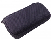 CASEBUDi Tough Travel Case - Mini - Black | Organise Accessories and Small Electronics | Sturdy, Stylish, Ballistic Nylon, Impact Protection for Travel or Storage