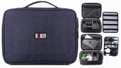 BUBM Universal Electronics Accessories Travel Carrying Organiser Case Digital Storage Bag for Power Supply