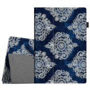 Fintie Case for Microsoft Surface Pro 2017 / Surface Pro 4 / Surface Pro 3 - PU Leather Folio Stand Cover, Indigo Dreams