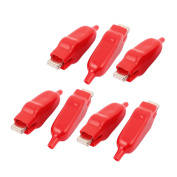 Car Battery Test Insulated Boot Spring Loaded Alligator Clip Red 75mm Long 7pcs