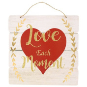Happy Valentine's Day Love Each Moment Hanging Wall Plaques Home Decor Decoration