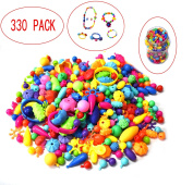 Pop Beads Set - Kids Toddlers Creative Jewellery Making Set Toys Necklace, Bracelet and Ring and Art Crafts Gifts for Girls,The Best Educational Toy Gifts for Christmas!