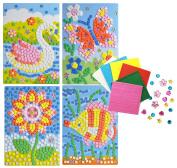Mosaics Flower Fish Butterfly Swan cute 4 pattern design craft sticker