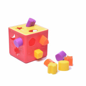 Fu T Baby Blocks Shape Sorter Toy Colour Recognition Shape Toys With Colourful Sorter Cube Box Unique Educational Sorting & Matching Toy Baby learning cognitive building blocks toys