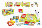 Supermarket Cash Register - 24 Pieces Includes Scanner With Light And Music