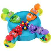 Hungry Hungry Frog Feeding Frog Game Feeding Frogies Board Game Feed the Hungry Froggies Fun Kids 3D Board Game Desktop Toys Frog Frenzy Game Great Holiday Gift for Kids, Marbles Included