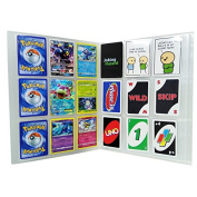 SAIKA 288 Pockets Transparent Pokemon Trading Cards Album Sleeves Storage Page Protectors, Also Fits Other Card Games