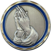 Praying Hands Religious Coin Spiritual Gift Men Women Prayer Coin Recovery Gifts