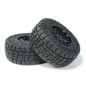 "PR Racing SCT-P006 2.2""/3.0"" Short Course Truck Tyres with Foam Inserts & Black Wheel Rims 12mm Hex 2Pcs"