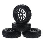 HobbyMarking 4Pcs 1/8 Scale RC Off-Road Racing Tyres Tyre and 17mm Hex Wheel Rims for RC Baja Buggy RC4WD HSP HPI Model Car