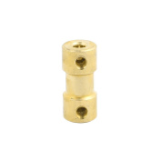 uxcell 3mmx3mm Brass Shaft Coupling Coupler Motor Transmission Motor Connector for RC Boat Model