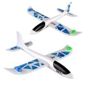 DIY Aeroplane ,Jinjin Foam Throwing Glider Aeroplane Inertia Led Night Flying Aircraft Toy Hand Launch Aeroplane Model
