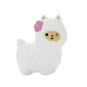TEEGOMO 17cm White Alpaca Slow Rising Scented Jumbo Squishy Stress Relief Squeeze Decorations Toy and Christmas Gift