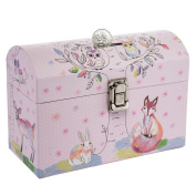 Tri-Coastal Design Kids Piggy Bank Coin Savings Money Bank Toy With Latch For Girls Or Boys