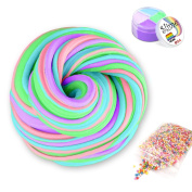 Fluffy Slime with Foam Balls - Meland Jumbo Fluffy Floam Slime Stress Relief Toy Scented Sludge Toy for Kids Adults 4 Colours 180ml, ASTM Certified