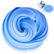 Snorain Fluffy Slime,210ml Jumbo Fluffy Floam Blue Butter Slime with Containers,Non-sticky