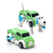 Moonio Clockwork Dino Rhino Transform Into Car Wind-up Smart Geek Toy For Kids Automatic Trans Boy Toy Gift