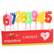 Number Birthday Candle Environmental Protection Smokeless Candle a Pack Include 10Pcs of Figure Candle Suitable for Birthday Decoration or Other Events